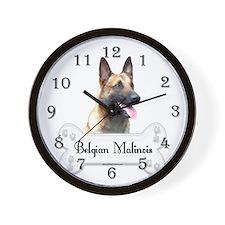 Malinois 2 Wall Clock