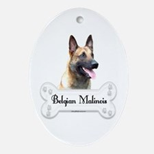 Malinois 2 Oval Ornament
