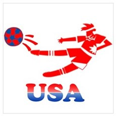 US Soccer Player Poster