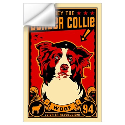 Border Collie! Large Propaganda Wall Decal