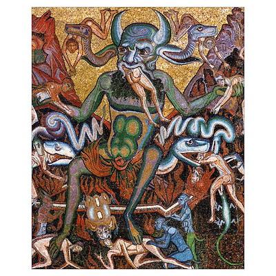 Medieval Satan Mosaic 16x20 Poster