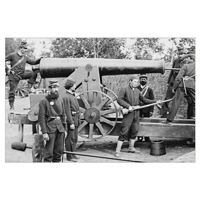 Cannon Ft Woodbury 1863 Poster