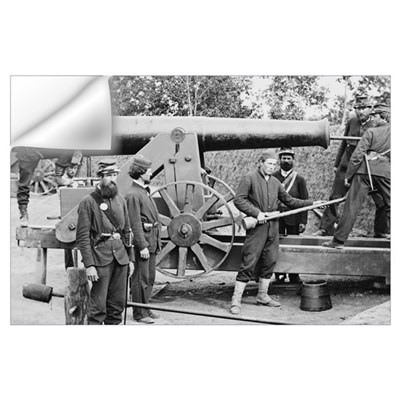 Cannon Ft Woodbury 1863 Wall Decal