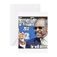Herman Cain 2012 Election Pre Greeting Cards (Pk o