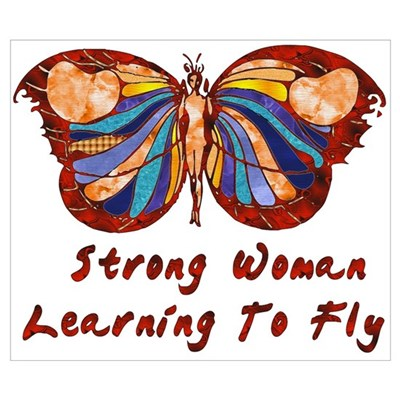 Strong Woman Learning To Fly Poster
