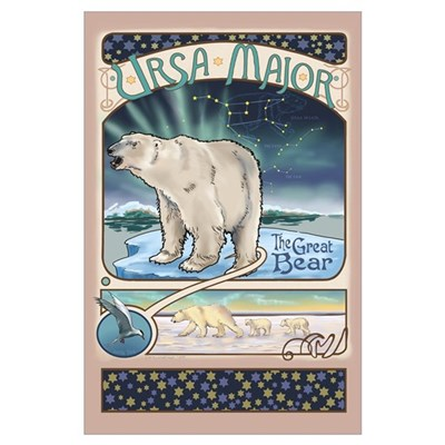 Ursa Major Polar Bear Poster