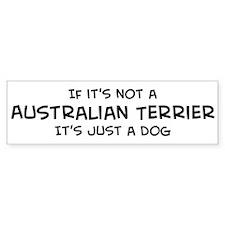Australian Terrier Bumper Bumper Bumper Sticker