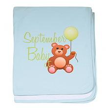 September Baby baby blanket