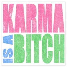 Karma Is A Bitch Poster