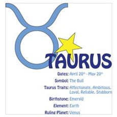 Taurus Traits Poster
