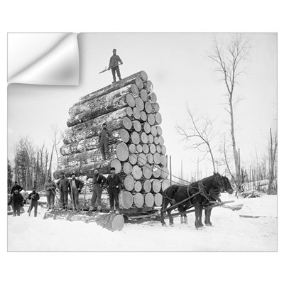Loggers At Work, 1890 Wall Decal