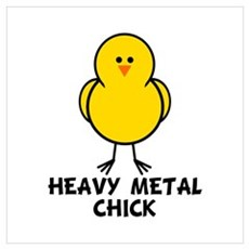 Heavy Metal Chick Poster
