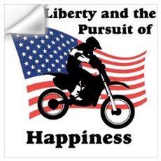 Motocross Happiness Wall Decal