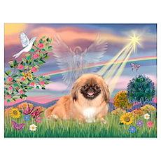 Cloud Angel Pekingese (#1) Poster