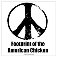 Footprint of the American Chicken Prin Poster