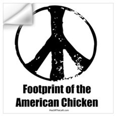 Footprint of the American Chicken Prin Wall Decal