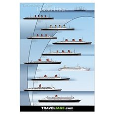 Evolution of the Ocean Liner Framed Print