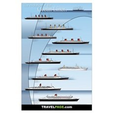 Evolution of the Ocean Liner Poster