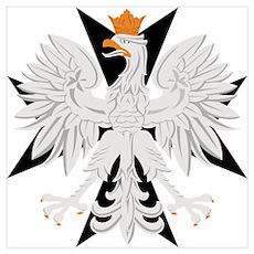 Polish Eagle Black Maltese Cr Poster