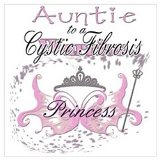 Auntie to a Cystic Fibrosis Warrior in Pink Large Poster