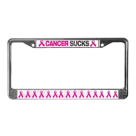 Cancer Sucks License Plate Frame