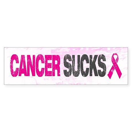 Cancer Sucks Sticker (Bumper)