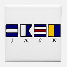 nautical jack Tile Coaster