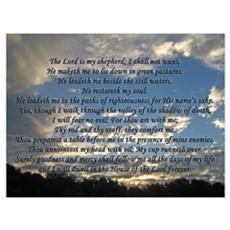 Beautiful Psalm 23 Poster