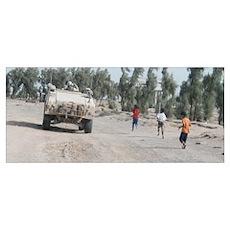 Passing Children In Umm Qasr Poster