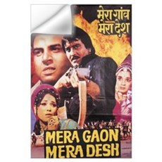 Mera Gaon Mera Desh Bollywood Wall Decal