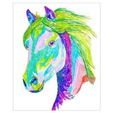 Rainbow Pony Framed Print