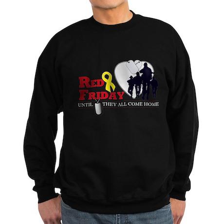 Red Friday - Until They All C Sweatshirt (dark)
