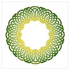 Green Irish Knot Poster