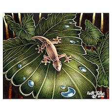 """Thirsty Hawaiian Gecko"" Poster"