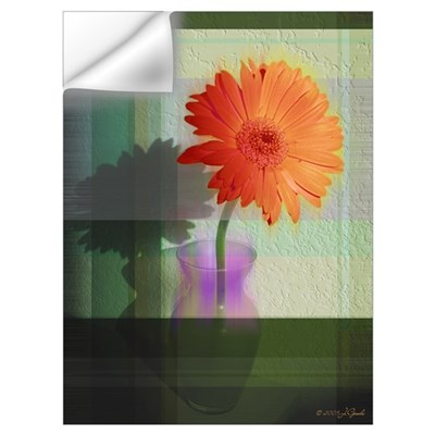 Gerber Daisy in Green Wall Decal