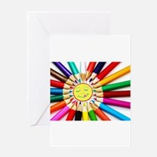 Funny Smiling sun Greeting Card