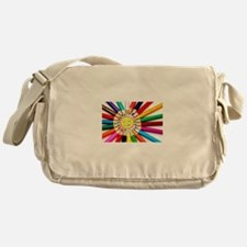 Unique Smiling sun Messenger Bag