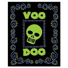 Voodoo Skull Poster