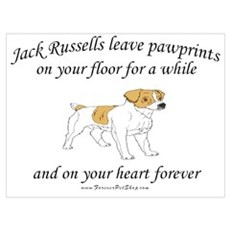Jack Russell Pawprints Poster