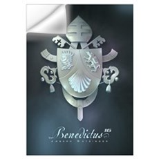 Silver Benedict Coat of Arms : Wall Decal