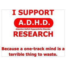Support ADHD Research Framed Print