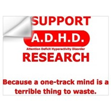 Support ADHD Research Wall Decal