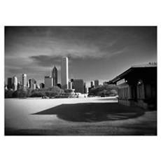 Chicago Skyline at Buckingham Fountain Poster
