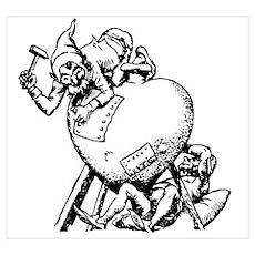 Elves Repairing Broken Heart Poster