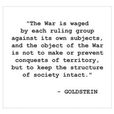 "Goldstein - ""The War"" Framed Print"