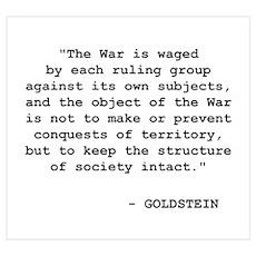 """Goldstein - """"The War"""" Poster"""