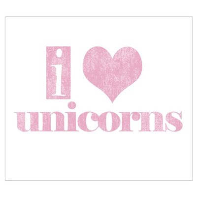 i love unicorns (pink) Poster