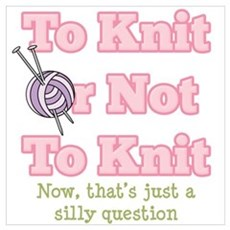 To Knit Or Not To Knit Framed Print