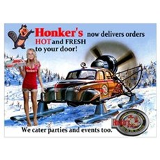 Honker's Canadian Delivery Poster