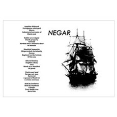 """Negar"" (Slavery Memorial) Poetic Print Canvas Art"